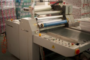 Lijia's lamination machine.